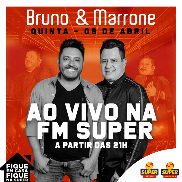 Bruno e Marrone ao vivo na rádio FM Super