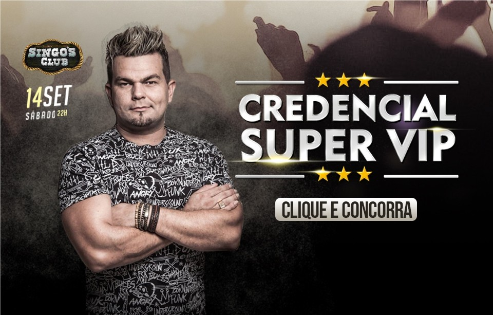 Credencial Super Vip Alemão do Forró