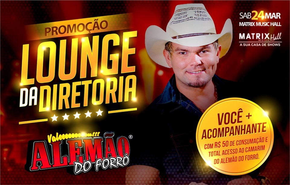 Lounge para o show do Alemão do Forró