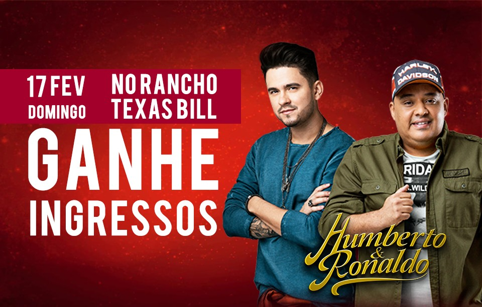 Humberto e Ronaldo no Rancho Texas Bill